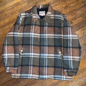 Vintage 80s Woolrich Sherpa Lined Wool Jacket